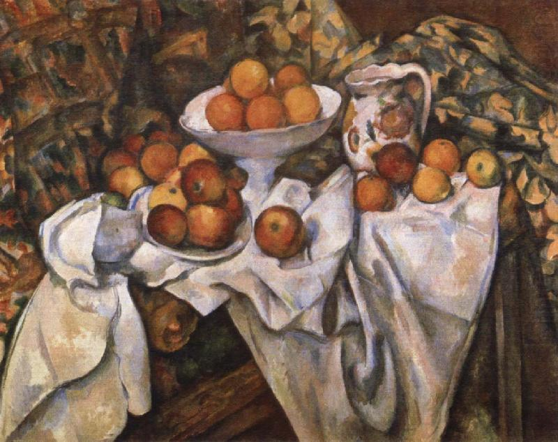 Still life with Apples and Oranges, Paul Cezanne